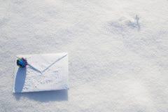 carta Para la Navidad, días de fiesta del Año Nuevo Fotografía de archivo