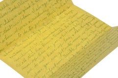 Carta a partir de 1975 Foto de archivo libre de regalías