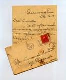 Carta a partir del pasado fotografía de archivo
