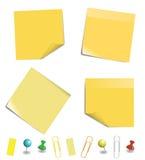 Carta per appunti appiccicosa Immagine Stock