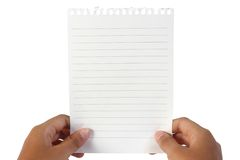 Carta per appunti in bianco Fotografia Stock