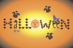 Carta per Halloween Fotografie Stock