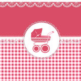 Carta per il bambino nei toni rosa Fotografia Stock