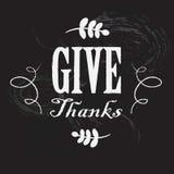 Carta per il giorno di ringraziamento Fotografia Stock