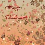 Carta per il giorno felice di ringraziamento Immagini Stock