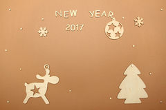 Carta per il nuovo anno Immagini Stock Libere da Diritti