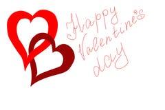 Carta per la celebrazione del giorno del ` s del biglietto di S. Valentino Fotografia Stock