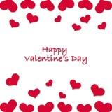 Carta per Valentine& x27; giorno di s fotografia stock libera da diritti