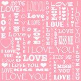 Carta per Valentine& x27; giorno di s immagine stock libera da diritti