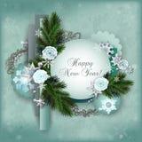Carta a più strati d'annata per le vacanze invernali nello scrapbooking Fotografia Stock