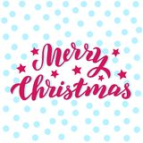 Carta piacevole fatta a mano di Buon Natale Progettazione per la cartolina, imballante, stampa di festa di natale Testo scritto a royalty illustrazione gratis