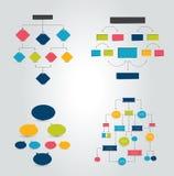 Carta plana, gráfico con efecto de sombras Simplemente color editable Imagen de archivo libre de regalías