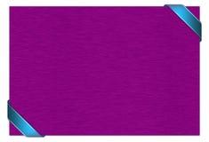 Carta porpora con il nastro blu Fotografia Stock