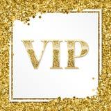 Carta premio, manifesto o aletta di filatoio dell'invito di VIP per il partito Modello dorato di progettazione con il testo brill royalty illustrazione gratis