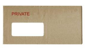 Carta privada Imágenes de archivo libres de regalías