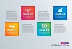 Carta quadrata di Infographics con un modello di 4 dati Illustrat di vettore illustrazione vettoriale