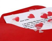 Carta querida de Juan Foto de archivo