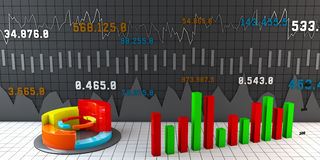 Carta, relatórios e apresentações coloridos de negócio Fotos de Stock
