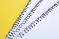 Carta rilegata di giallo Immagine Stock Libera da Diritti