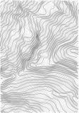 Carta in rilievo astratta della terra di vettore Mappa concettuale generata di elevazione Immagine Stock Libera da Diritti