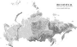 Carta in rilievo punteggiata vettore della Russia illustrazione di stock