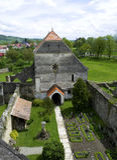 Carta, Roemenië - 8 kan 2016 - de cisterciënzer abdij van Transsylvanië Stock Foto's