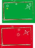 Carta roja y verde Fotos de archivo