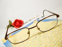 Carta romántica Foto de archivo libre de regalías