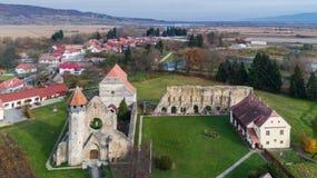 Carta Monastery former Cistercian Benedictine religious archit. Carta, Romania. The old ruined cistercian abbey from Transylvania Stock Image