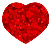 Carta romantica del cuore fotografia stock libera da diritti