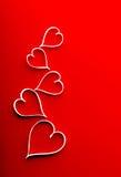 Carta romantica di giorno di biglietti di S. Valentino. Fotografia Stock Libera da Diritti