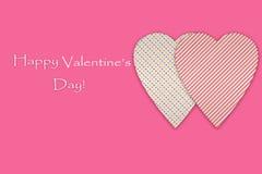 Carta romantica: isolatet degli innamorati su fondo rosa Immagini Stock Libere da Diritti
