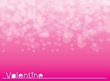 Carta rosa di giorno di biglietti di S. Valentino del fondo dell'illustrazione di vettore Fotografie Stock Libere da Diritti