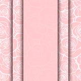 Carta rosa di vettore con il modello delle rose Eps-10 Immagine Stock Libera da Diritti