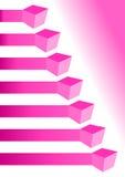 Carta rosada infographic con las cajas ilustración del vector