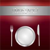 Carta rossa del menu Fotografia Stock
