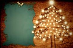 Carta rustica di Natale Fotografie Stock