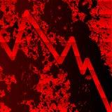 Carta sangrienta de la recesión stock de ilustración