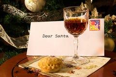 Carta a Santa Fotos de archivo