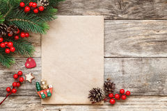 Carta a Santa Fotografía de archivo