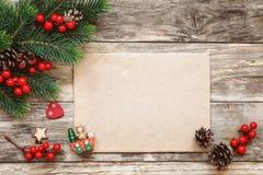 Carta a Santa Imagen de archivo