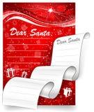 Carta a Santa. Fondo de la Navidad Fotografía de archivo