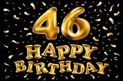 carta scintillante della celebrazione di anniversario di 46 anni, fondo vibrante di quarantaseesimo anniversario - vector eps10 Immagini Stock Libere da Diritti