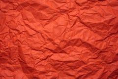 Carta sgualcita arancia Immagini Stock Libere da Diritti