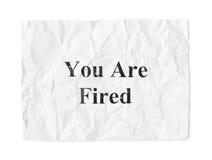 Carta sgualcita siete licenziato Immagini Stock