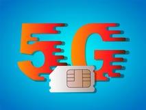 carta SIM di 5g Business5G Fotografie Stock