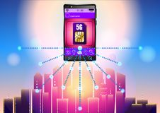 carta SIM 5G royalty illustrazione gratis
