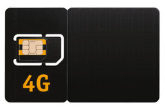Carta SIM 4G Fotografie Stock