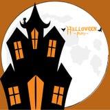 Carta spettrale della casa di Halloween Immagini Stock