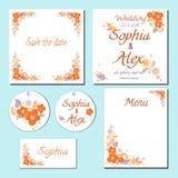 Carta stabilita di nozze Salvo la data Royalty Illustrazione gratis